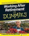 Working After Retirement For Dummies (0470139188) cover image