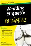 Wedding Etiquette For Dummies (0470502088) cover image