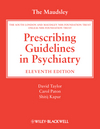 The Maudsley Prescribing Guidelines in Psychiatry, 11th Edition (0470979488) cover image