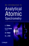 An Introduction to Analytical Atomic Spectrometry (0471974188) cover image
