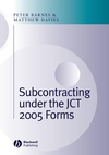 Subcontracting Under the JCT 2005 Forms (1405177888) cover image
