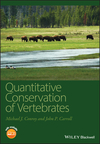 Quantitative Conservation of Vertebrates (1405182288) cover image