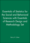 Essentials of Statistics for the Social and Behavioral Sciences with Essentials of Research Design and Methodology Set (047029308X) cover image