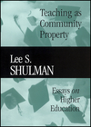 Teaching as Community Property: Essays on Higher Education (047062308X) cover image