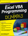 Excel VBA Programming For Dummies, 3rd Edition (111849038X) cover image
