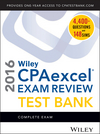 Wiley CPAexcel Exam Review 2016 Test Bank: Complete Exam (111912008X) cover image