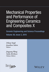 Mechanical Properties and Performance of Engineering Ceramics and Composites X: Ceramic Engineering and Science Proceedings, Volume 36 Issue 2 (111921128X) cover image