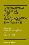 International Review of Industrial and Organizational Psychology, 2010 Volume 25 (0470682590) cover image