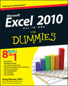 Excel 2010 All-in-One For Dummies (0470768290) cover image