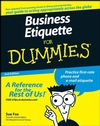 Business Etiquette For Dummies, 2nd Edition (0470147091) cover image