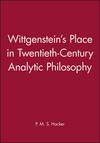 Wittgenstein's Place in Twentieth-Century Analytic Philosophy (0631200991) cover image