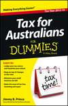 Tax For Australians For Dummies, 2012 - 13 Edition (1118551192) cover image