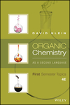 Organic Chemistry As a Second Language: First Semester Topics, 4th Edition (1119234492) cover image