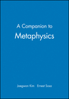 A Companion to Metaphysics (0631199993) cover image