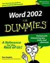 Word 2002 For Dummies (0764508393) cover image