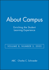 About Campus: Enriching the Student Learning Experience, Volume 8, Number 3, 2003 (0787972193) cover image