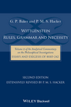 Wittgenstein: Rules, Grammar and Necessity: Volume 2 of an Analytical Commentary on the Philosophical Investigations, Essays and Exegesis §§185-242, 2nd Edition (1118854594) cover image