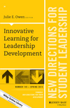 Innovative Learning for Leadership Development: New Directions for Student Leadership, Number 145 (1119067294) cover image