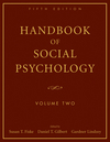 Handbook of Social Psychology, 5th Edition, Volume Two (0470137495) cover image