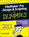 FileMaker Pro Design and Scripting For Dummies (1118043995) cover image