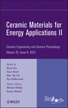 Ceramic Materials for Energy Applications II: Ceramic Engineering and Science Proceedings, Volume 33, Issue 9 (1118205995) cover image