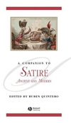 A Companion to Satire: Ancient and Modern (1405171995) cover image