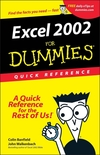 Excel 2002 for Dummies Quick Reference (0764508296) cover image