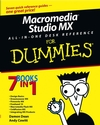 Macromedia Studio MX All-in-One Desk Reference For Dummies (0764517996) cover image