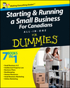 Starting and Running a Small Business For Canadians For Dummies All-in-One (1118223896) cover image