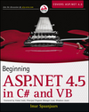 Beginning ASP.NET 4.5: in C# and VB (1118387996) cover image