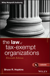 The Law of Tax-Exempt Organizations, 11th Edition (1118873696) cover image