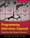 Programming Interviews Exposed: Coding Your Way Through the Interview, 4th Edition (1119418496) cover image