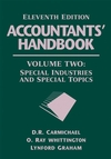 Accountants' Handbook, Volume 2: Special Industries and Special Topics, 11th Edition (0471790397) cover image