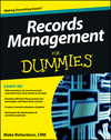 Records Management For Dummies (1118388097) cover image