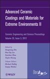 Advanced Ceramic Coatings and Materials for Extreme Environments II, Volume 33, Issue 3 (1118205898) cover image