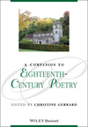 A Companion to Eighteenth-Century Poetry (1118702298) cover image