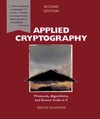 Applied Cryptography: Protocols, Algorithms, and Source Code in C, 2nd Edition (0471117099) cover image