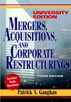 Mergers, Acquisitions, and Corporate Restructurings, 3rd Edition, University Edition (0471237299) cover image