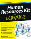 Human Resources Kit For Dummies, 3rd Edition