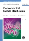 Electrochemical Surface Modification: Thin Films, Functionalization and Characterization (3527314199) cover image