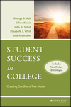 Student Success in College: Creating Conditions That Matter, (Includes New Preface and Epilogue) (047059909X) cover image