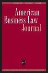 American Business Law Journal (ABLJ) cover image