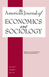 American Journal of Economics and Sociology (AJES) cover image