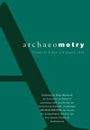 Archaeometry (ARCM) cover image