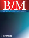British Journal of Management (BJOM) cover image