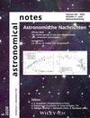 Astronomische Nachrichten (E228) cover image