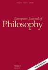 European Journal of Philosophy (EJOP) cover image
