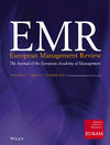 European Management Review (EMRE) cover image