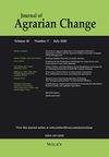 Journal of Agrarian Change (JAG4) cover image