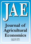 Journal of Agricultural Economics (JAGE) cover image